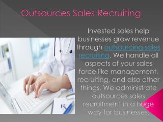 Outsourcing Sales
