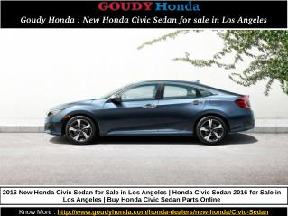 Goudy Honda : New Honda Civic Sedan for sale in Los Angeles