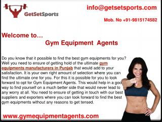 Look for the affordable gym equipments manufacturers in Punjab