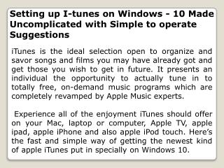 Setting up I-tunes on Windows - 10 Made Uncomplicated with Simple to operate Suggestions