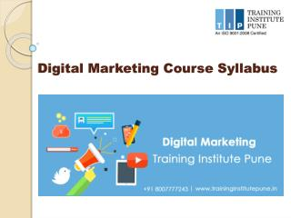 Digital Marketing Syllabus-Training Institute Pune