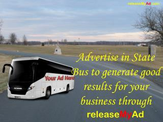 State Bus Advertisements at the lowest rates via releaseMyAd
