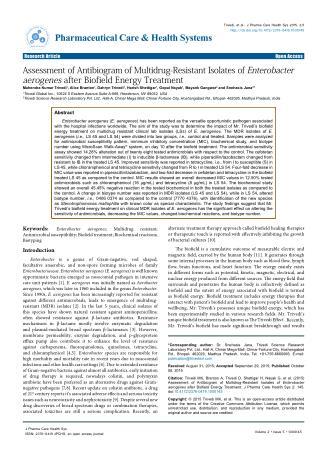 Enterobacter Aerogenes Biofield Treatment
