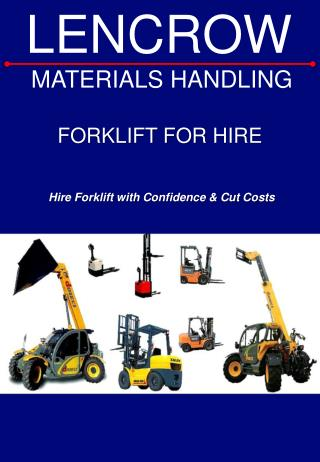 Forklift for hire