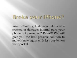 iPhone 6 Repair| iPhone screen Repair Toronto