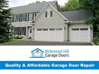 Garage Door Repair Richmond Hill - Trusted & Affordable