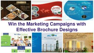 Win the marketing campaigns with effective brochure designs