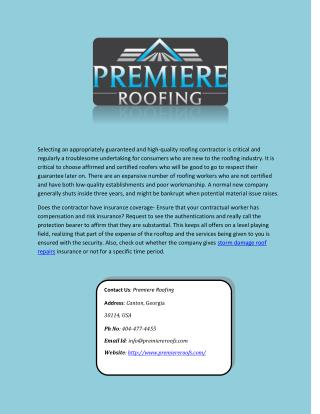 Best Storm damage Roof Repairs Company Atlanta