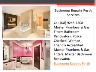 Bathroom Repairs Perth Services