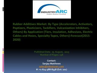 Rubber Additives Market Sales propelled majorly by application in manufacture of automotive tires.
