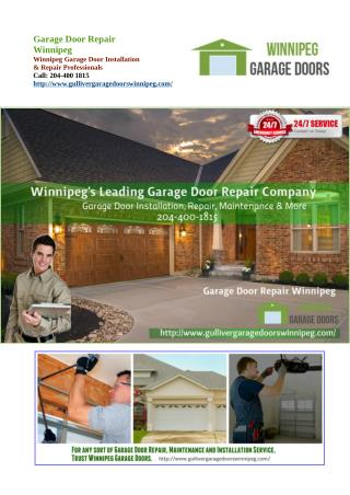 Five Important Things to Check When Buying a Garage Door