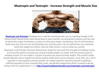 Maxtropin - Best and Safe Supplement