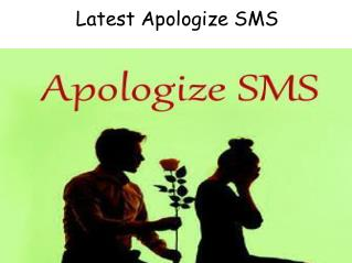 Latest Apologize SMS