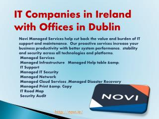 IT Companies in Ireland with Offices in Dublin