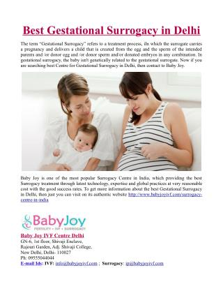 Best Gestational Surrogacy in Delhi
