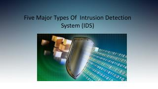 Five Major Types of Intrusion Detection System (IDS)