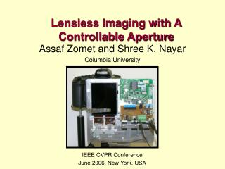 Lensless Imaging with A Controllable Aperture