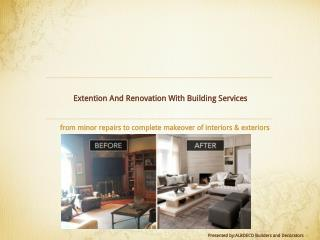 Extention And Renovation With Building Services