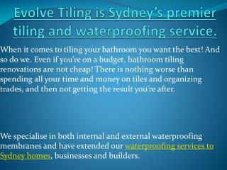 Tiling Service Sydney - Tiler - Evolve tiling