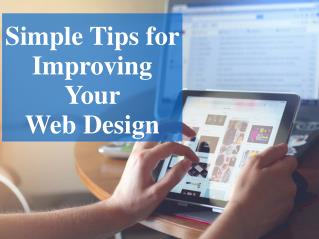 Web Design Improvement : Know Simple Tips