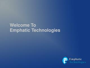 PHP application development services is best in emphatic technologies