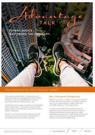 Advantage Talk - Insurance Act