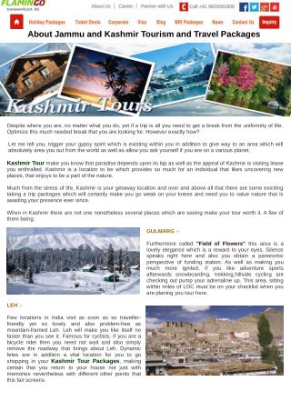 About Jammu and Kashmir Tourism and Travel Packages