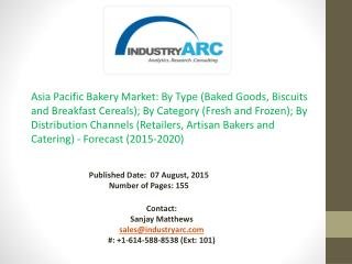Asia Pacific Bakery Market: high demand and scope in populous regions like China and India