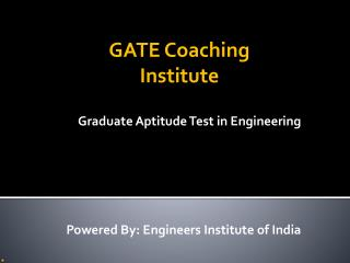 Best Institute For GATE Coaching In Delhi
