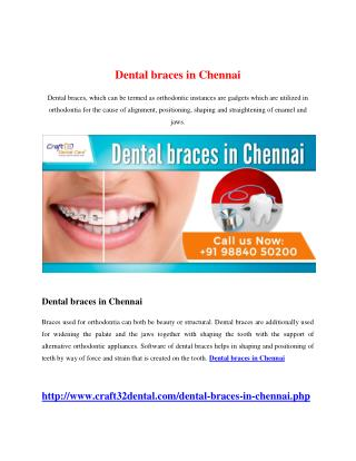 Dental braces in Chennai