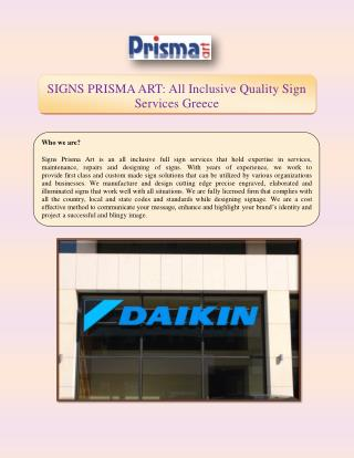 SIGNS PRISMA ART All Inclusive Quality Sign Services Greece