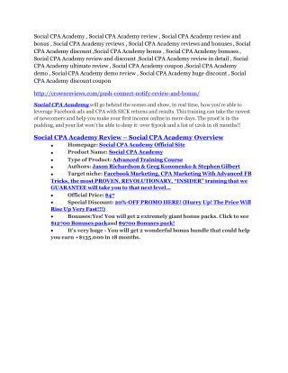 Social CPA Academy reviews and bonuses-- Social CPA Academy
