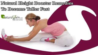 Natural Height Booster Remedies To Become Taller Fast Safely