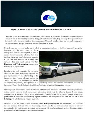 Limousine and Taxi operations