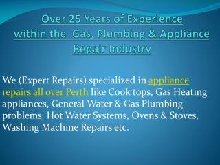 Appliances Repairs Perth - Expert Repairs