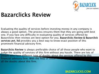 Bazarclicks Review