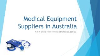 Medical Equipment Suppliers in Australia