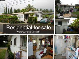 Residential for sale in wailuku, hawaii, 369551
