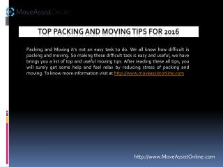 Searching Top Moving Tips for 2016?