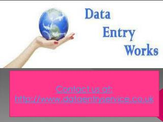 Data entry services in Manchester UK