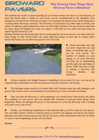 Why Knowing These Things About Driveway Pavers is Beneficial