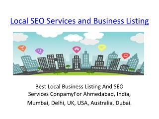 Local SEO Services and Business Listing