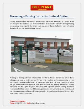 Automatic Driving Lessons Bolton