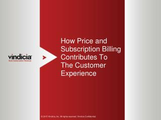 How Price and Subscription Billing Contributes To The Customer Experience