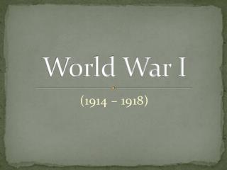 Mayer - World History - WWI