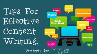 Tips for effective content writing.