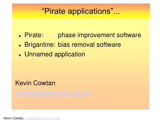 """Pirate applications""..."
