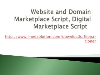 Website and Domain Marketplace Script, Digital Marketplace Script, Website Buy and Sell Script