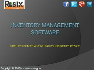 Inventory management software company