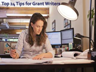 Top 24 Tips for Grant Writers
